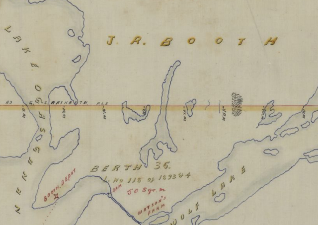 Plan of Barnet & Mackie's Timber Limits on River Kipawa . - Échelle [1:63360]. 1 mille au pouce . - 1870 - 1 carte(s) : n&b ; 60 x 75 cm - BANQ P228,S1,P45